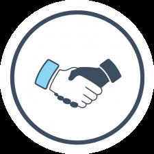 handshake deal for dental ppos clip art